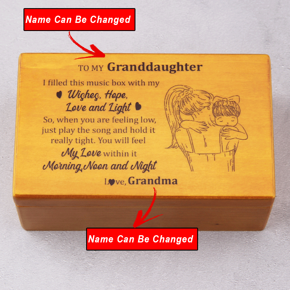 Personalized Name - I Filled This Music Box With My Love - Jewelry Music Box