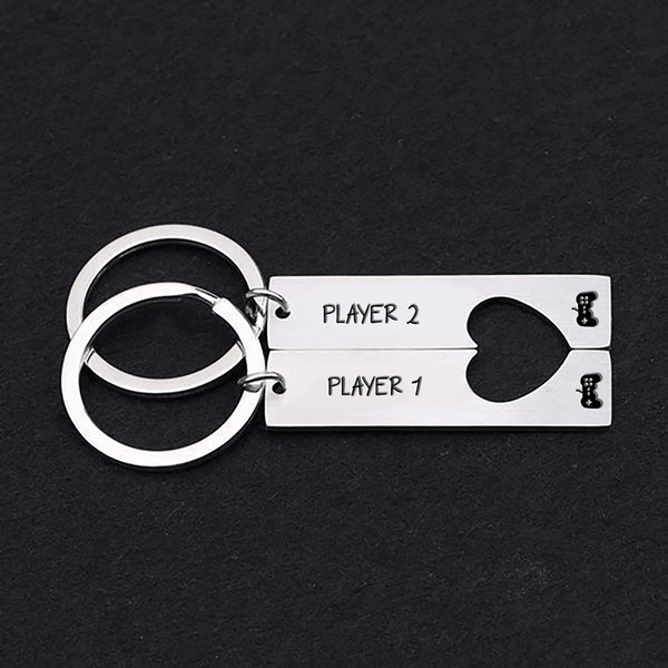 Couples Keyring - Player 1, Player 2