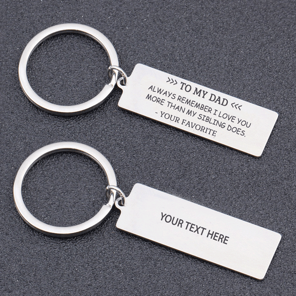 I Love You More Keyring For Parents