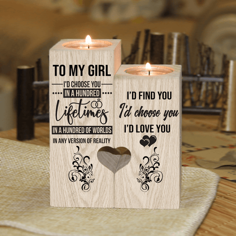 To My Girl - I'd Choose You in a Hundred Lifetimes - Candle Holder