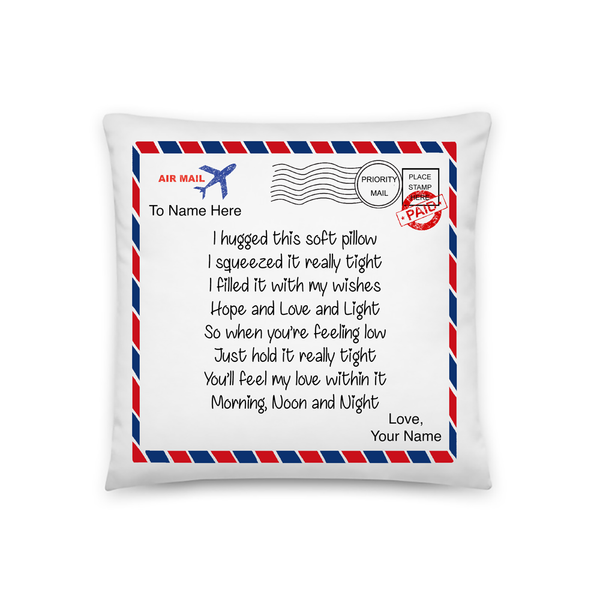 I Hugged This Soft Pillow (Air Mail) - Personalized Pillowcase