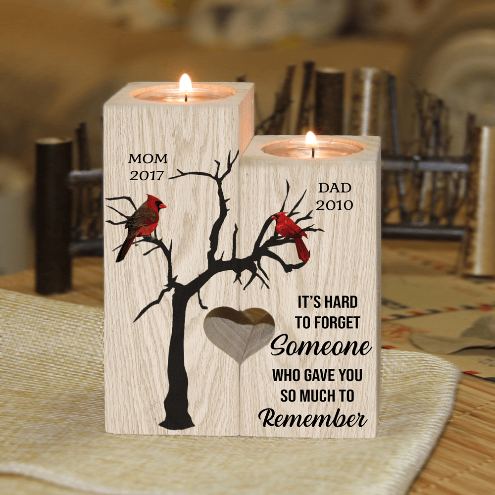 Hard to Forget - Personalized Name Candle Holder