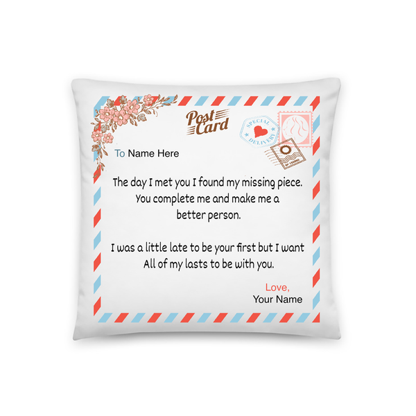 You Are My Missing Piece - Personalized Pillowcase