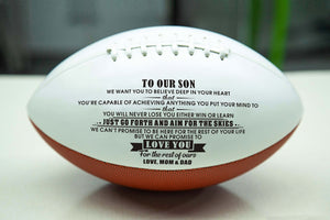 To Our Son  - You Will Never Lose - Engraved American Football