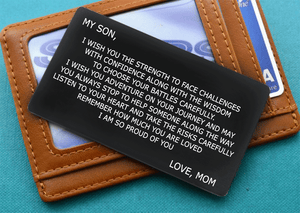 My son i am so proud of you - wallet insert card
