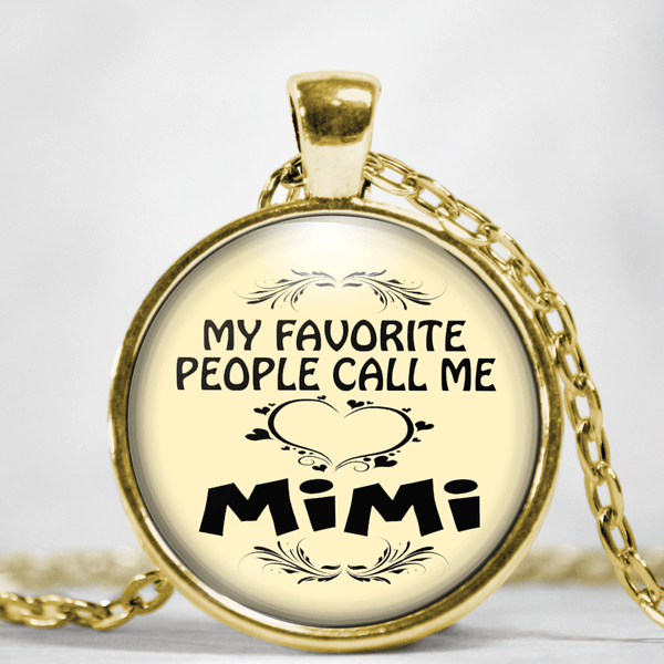 My Favorite People Call Me MiMi Pendant Neklace