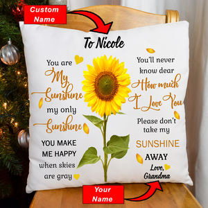 You Are My Sunshine - Personalized Name Pillowcase