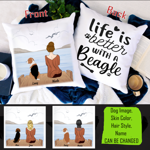 Personalized Pillow - Life is Better With A Beagle