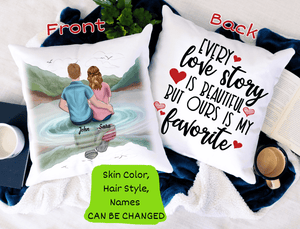 Personalized Pillow - Every Love Story Is Beautiful But Ours Is My Favorite
