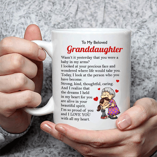 To My Beloved Granddaughter Coffee Mug