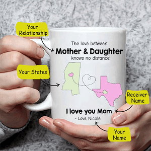 Personalized Long Distance Relationship Coffee Mug
