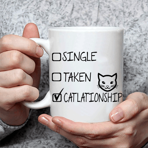 Funny Mug For Cat Lady - Catlationship