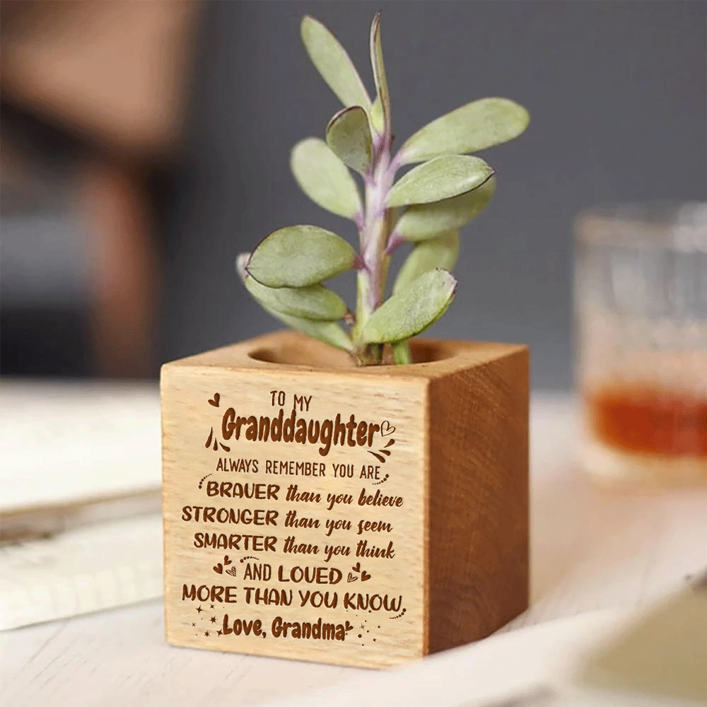 Grandma to Granddaughter - Loved More Than You Know - Engraved Plant Pot