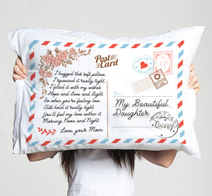 My Beautiful Daughter - I Hugged This Soft Pillow - Pillow Case -