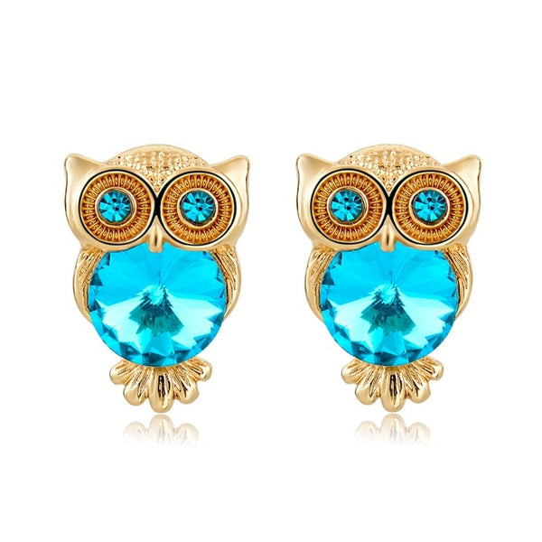 Vintage Charming Owl Earring