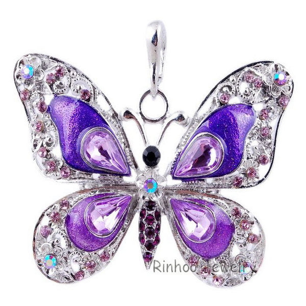 Shining Butterfly Pendant Necklace