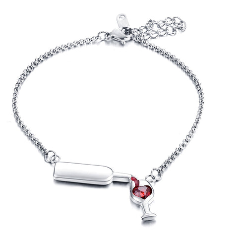 Lovely Wine Bracelet