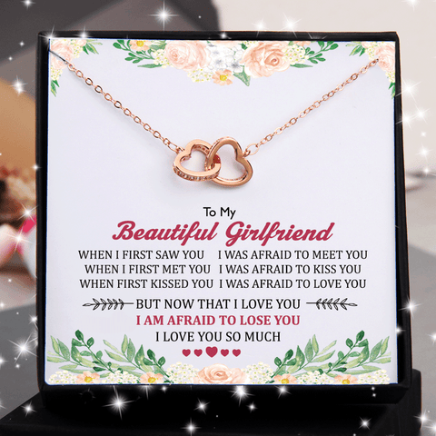 To Beautiful Girlfriend When I First Saw You Double Heart Necklace