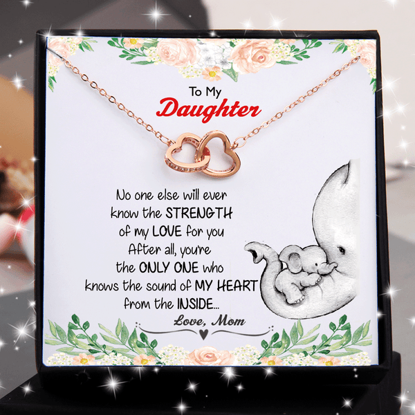 Mom to Daughter - Knows The Sound of My Heart - Double Heart Necklace