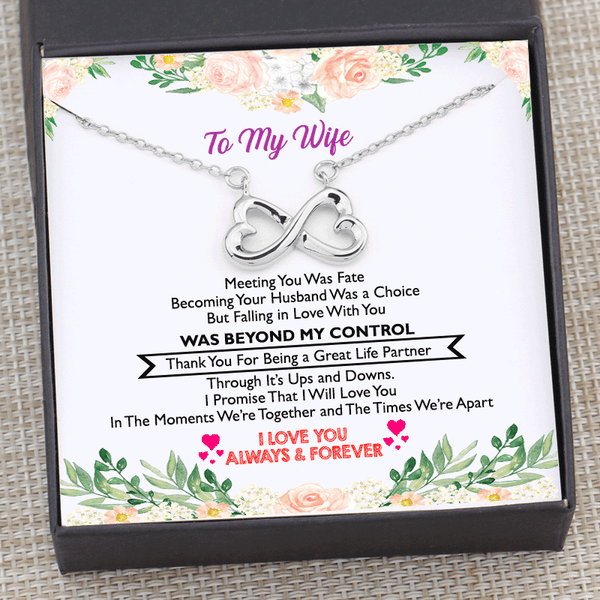 To My Wife - Great Life Partner Infinity Necklace Gift Box