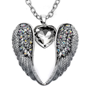 Guardian Angel Wing Heart Necklace