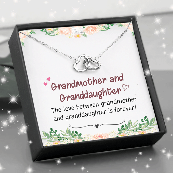 The Love Between Grandmother and Granddaughter - Double Heart Necklace