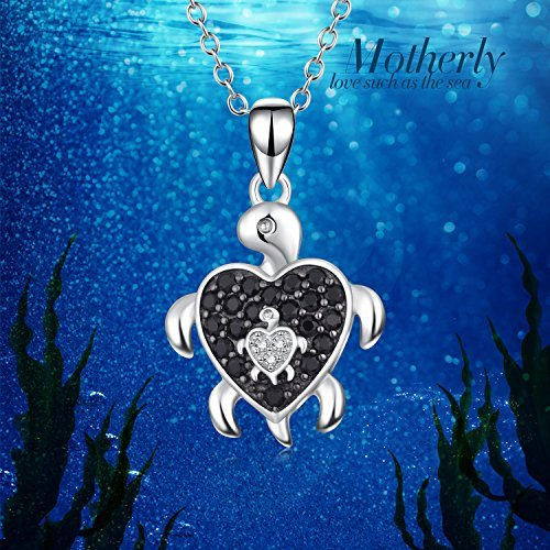Mother & Baby Sea Turtle Pendant Necklace