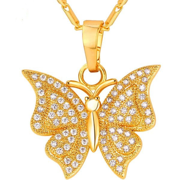 Luxury Butterfly Charm Necklace