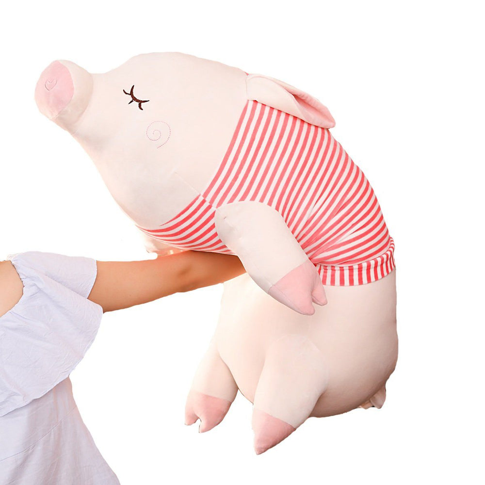 "110cm/43"" Giant Stuffed Pig with T-shirt Animal Pillow"