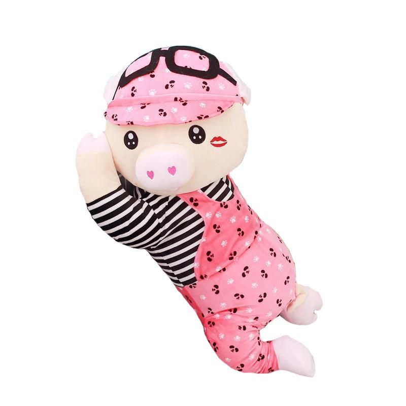 "100cm/39"" Giant Baby Pig Stuffed Animal with Hat"