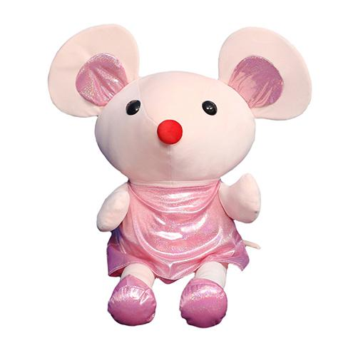 "80cm/31"" Giant Stuffed Mouse with Dress Soft Toy"