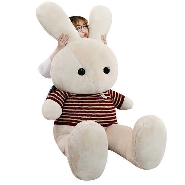 Giant Stuffed Rabbit with Sweater