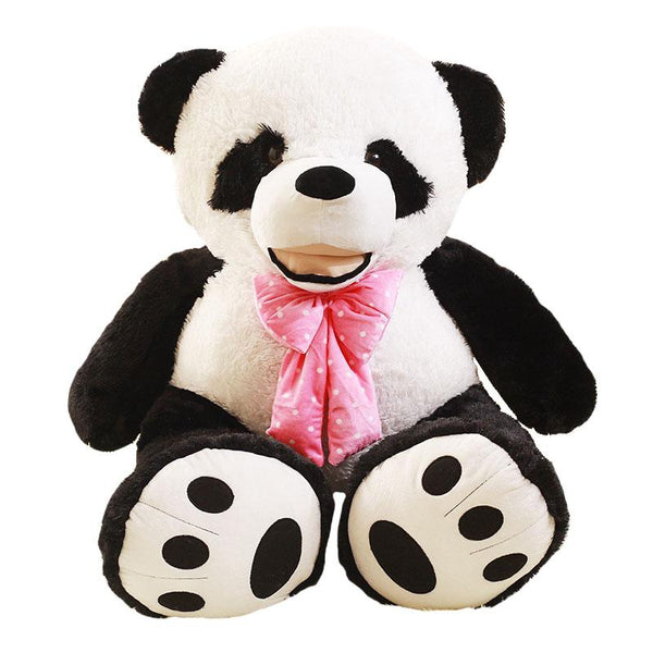 Giant Smiling Bowtie Stuffed Panda