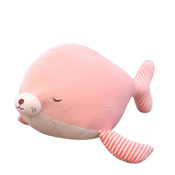 "100cm/39"" Giant Plush Whale and Sea Lion Animal Pillow - IKASATOYS"