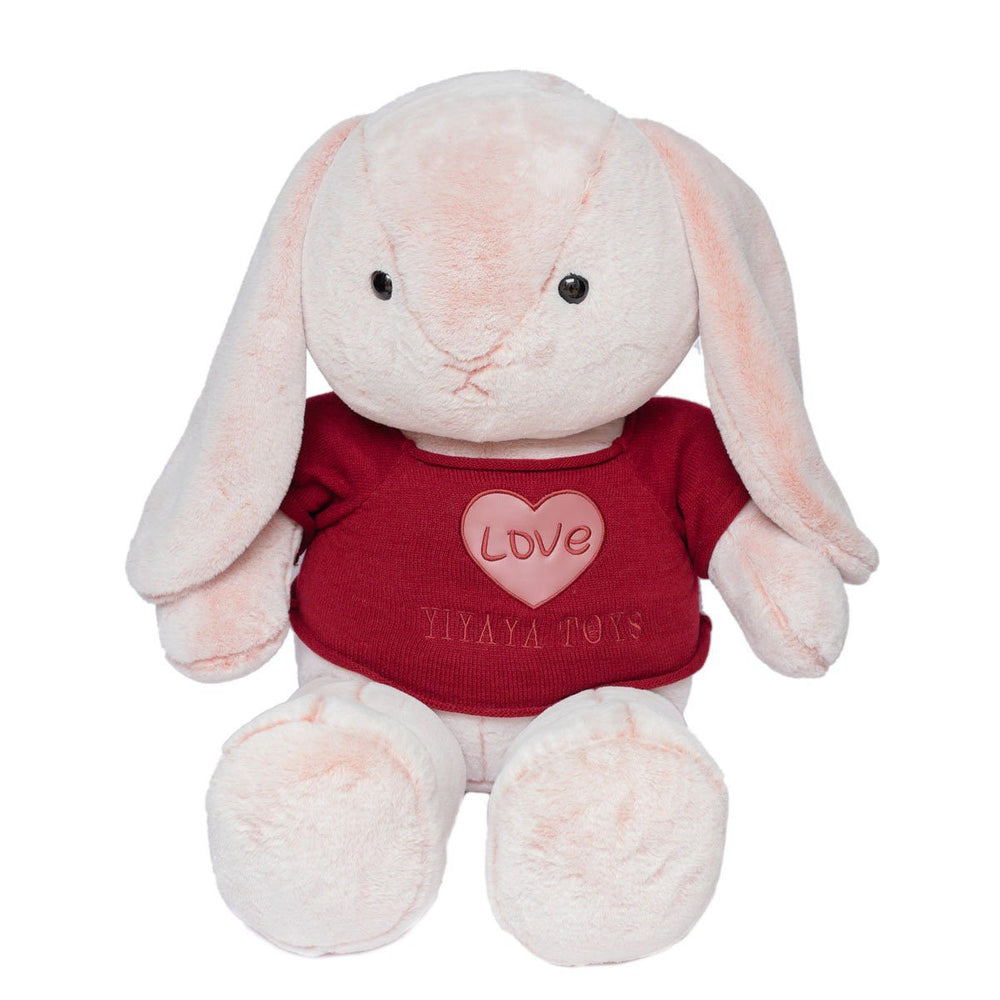 Easter Decoration Cute Fluffy Stuffed Rabbit with T-shirt
