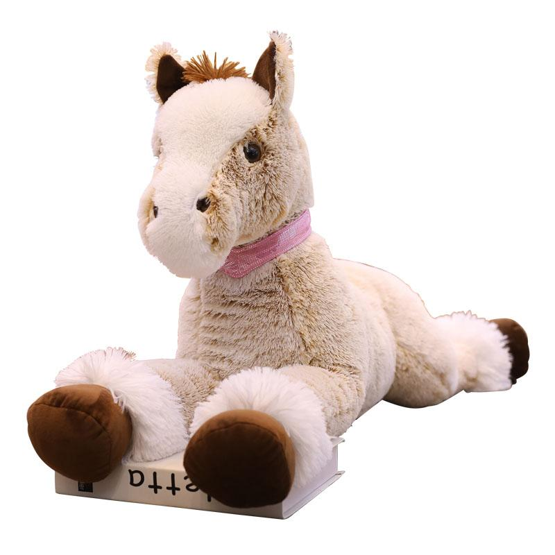 Giant Brown Stuffed Horse for Home Decoration