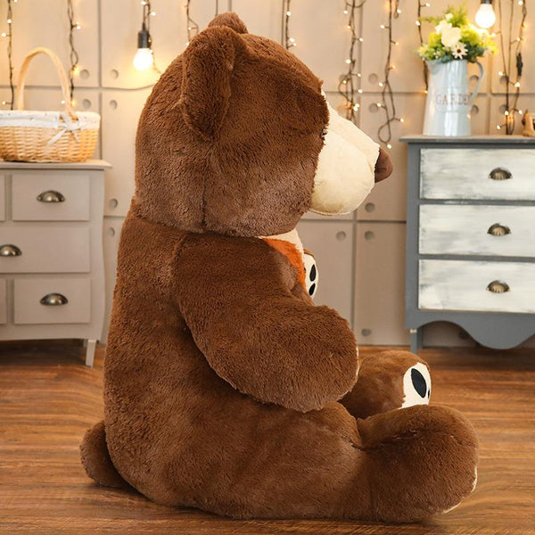 Giant Sitting Stuffed Brown Bear