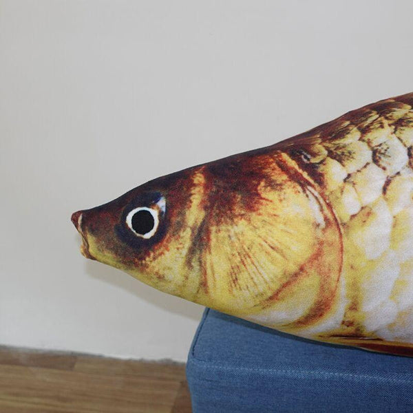 Giant Simulated Stuffed Fish Pillow