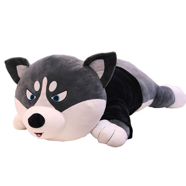 Giant Stuffed Husky Dog Pillow with T-shirt