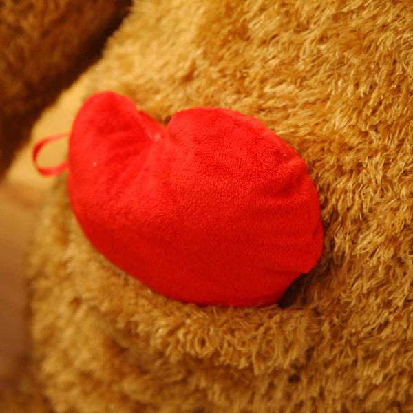 Giant Teddy Bear with Heart in Pocket