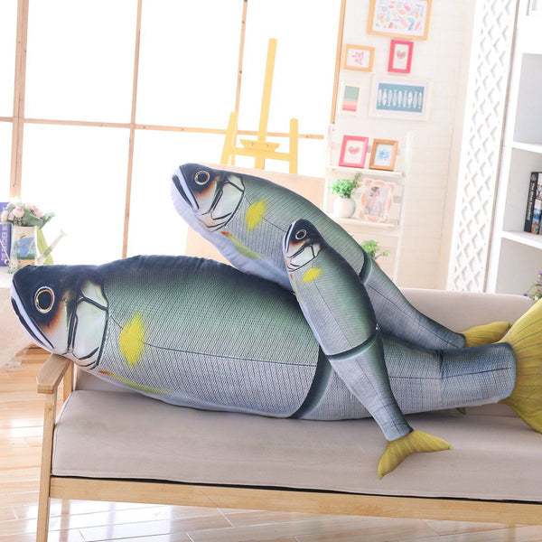 Giant Realistic Fish Stuffed Animal Pillow