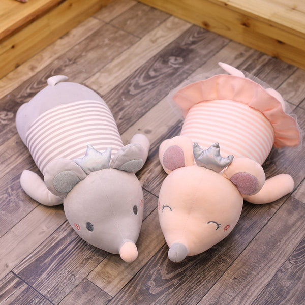 Stuffed Papa Plush Mouse Animal Pillow 2 Colors