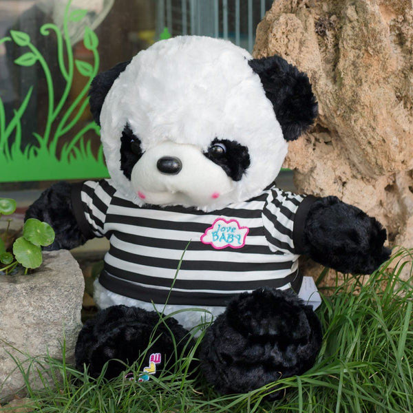 Super Cute Love Stuffed Panda with T-shirt
