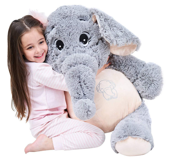 "100cm / 39"" Giant Stuffed Jennie Elephant Toy - IKASATOYS"