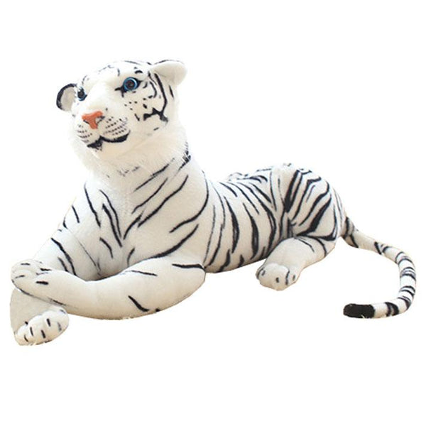Giant Simulated White Tiger Stuffed Animal