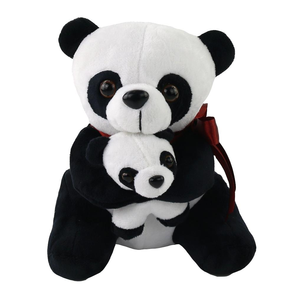 "20cm/8"" Mother's Day Gift Cuddly Stuffed Animal Panda Bear Mother and Son"