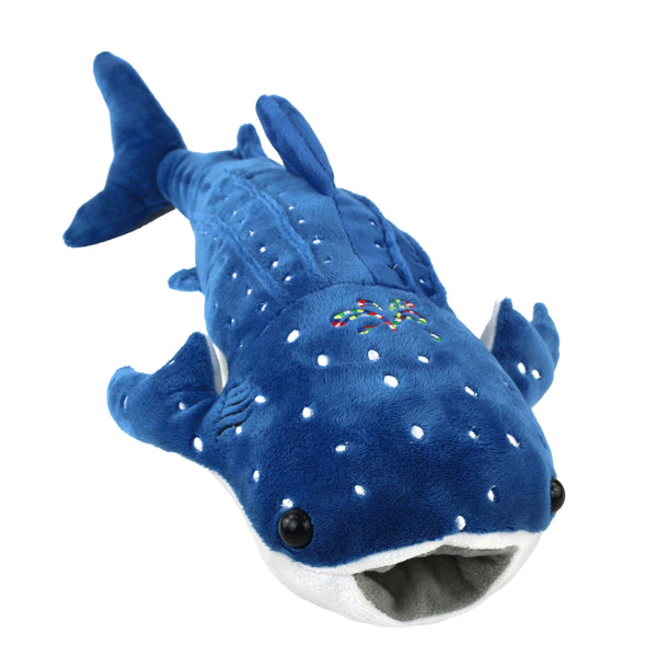 "51cm/20"" Stuffed Whale Shark Pillow for Baby Embroidery Plush Toy"