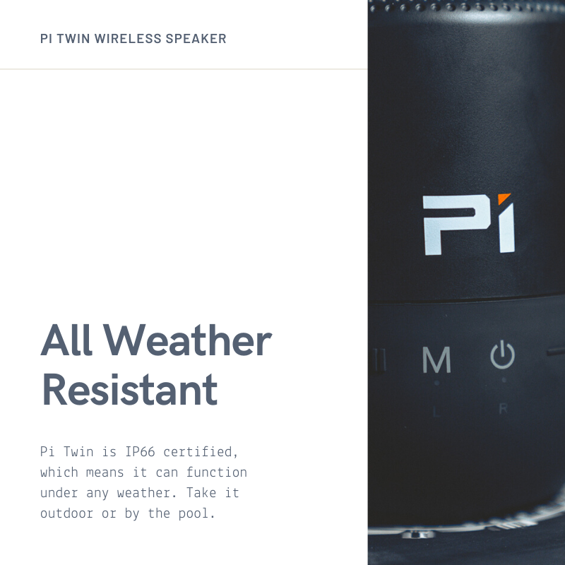 Pi Twin Waterproof IP66 Speaker - Pi Electronics