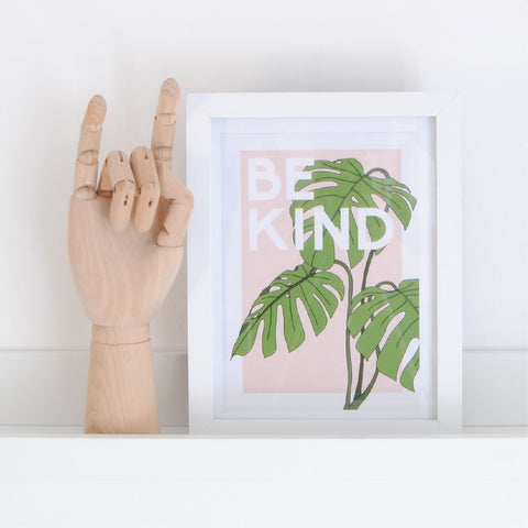 """BE KIND"" RECYCLED CARD A5 PRINT"