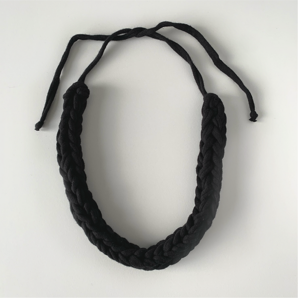 RECYCLED T-SHIRT BRAIDED CORD NECKLACE
